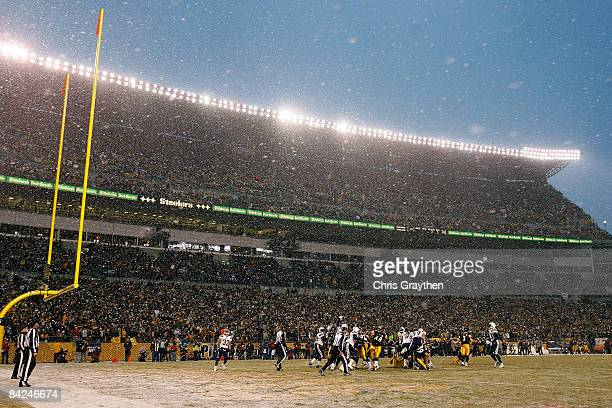 Jeff Reed of the Pittsburgh Steelers kicks a successful extra point against the San Diego Chargers during their AFC Divisional Playoff Game on...