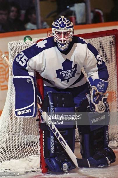 Jeff Reese of the Toronto Maple Leafs skates against the Hartford Whalers during NHL game action on February 14 1990 at Maple Leaf Gardens in Toronto...