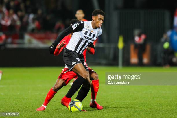 Jeff Reine Adelaide of Angers during the Ligue 1 match between Angers SCO and AS Monaco at Stade Raymond Kopa on February 10 2018 in Angers