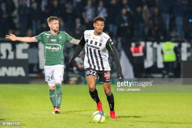 Jeff Reine Adelaide of Angers during the Ligue 1 match between Angers SCO and AS SaintEtienne at Stade Raymond Kopa on February 17 2018 in Angers