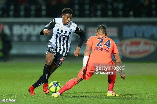 Jeff Reine Adelaide of Angers during the Ligue 1 match between Angers SCO and SM Caen at Stade Raymond Kopa on March 17 2018 in Angers