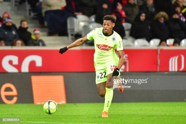 Jeff Reine Adelaide of Angers during the Ligue 1 match between Lille OSC and Angers SCO at Stade Pierre Mauroy on February 24 2018 in Lille France