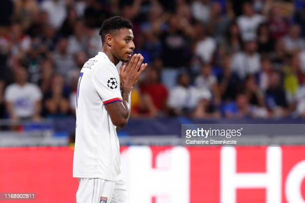 Jeff Reine Adelaide of Olympique Lyonnais reacts after a play during the UEFA Champions League group G match between Olympique Lyon and Zenit St....