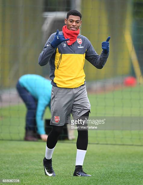 Jeff ReineAdelaide of Arsenal before a training session at London Colney on January 30 2017 in St Albans England