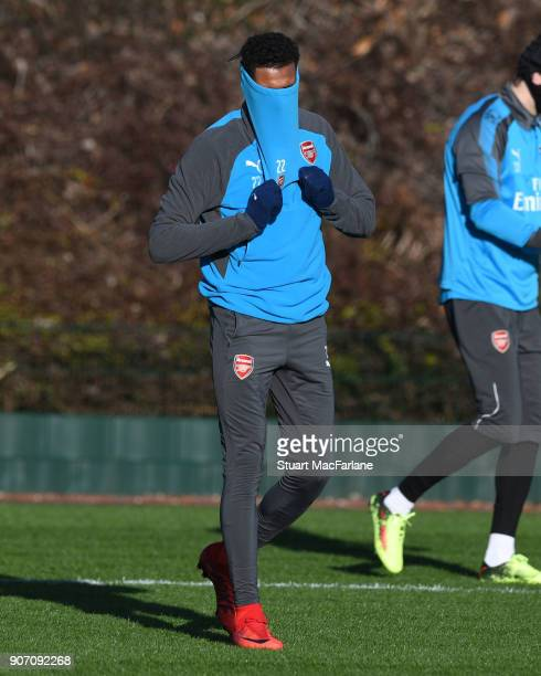Jeff ReineAdelaide of Arsenal before a training session at London Colney on January 19 2018 in St Albans England