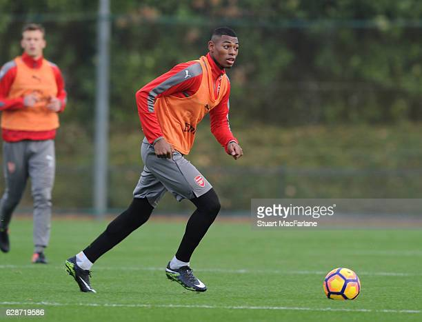 Jeff ReineAdelaide of Arsenal during a training session at London Colney on December 9 2016 in St Albans England