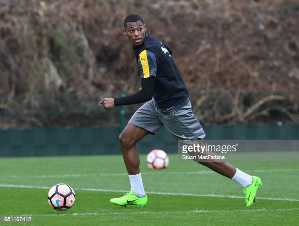 Jeff ReineAdelaide of Arsenal during a training session at London Colney on March 10 2017 in St Albans England