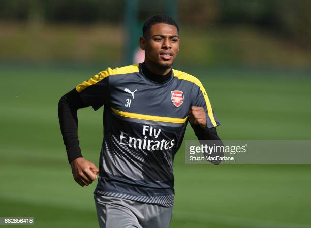 Jeff ReineAdelaide of Arsenal during a training session at London Colney on April 1 2017 in St Albans England