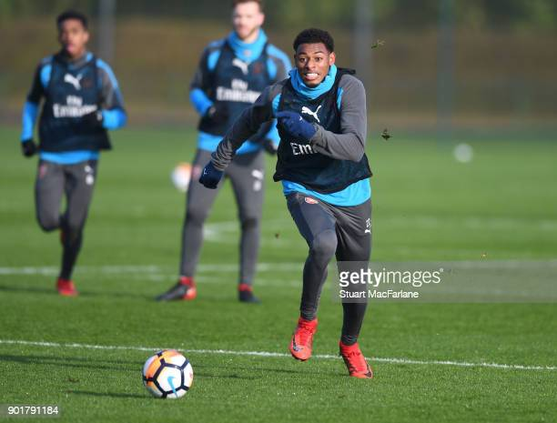 Jeff ReineAdelaide of Arsenal during a training session at London Colney on January 6 2018 in St Albans England
