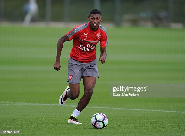 Jeff ReineAdelaide of Arsenal during a training session on August 10 2016 in St Albans England