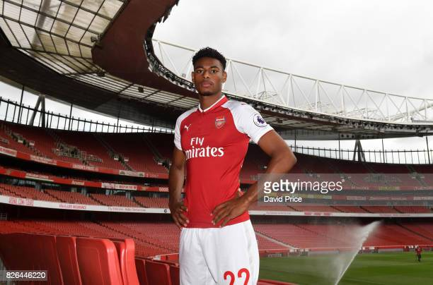 Jeff ReineAdelaide of Arsenal during the Arsenal 1st team photocall at Emirates Stadium on August 3 2017 in London England