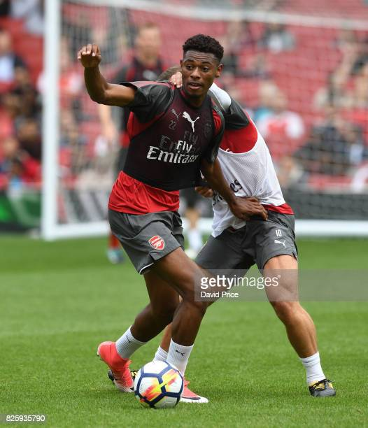 Jeff ReineAdelaide of Arsenal during the Arsenal Training Session at Emirates Stadium on August 3 2017 in London England