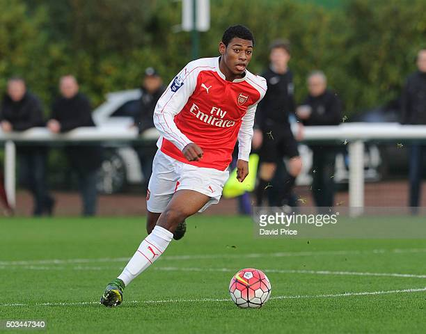 Jeff ReineAdelaide of Arsenal during the Barclays Premier U21 match between Arsenal U21 and West Bromwich Albion U21 at London Colney on January 5...