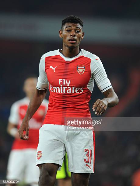 Jeff ReineAdelaide of Arsenal during the EFL Cup Fourth Round match between Arsenal and Reading at Emirates Stadium on October 25 2016 in London...