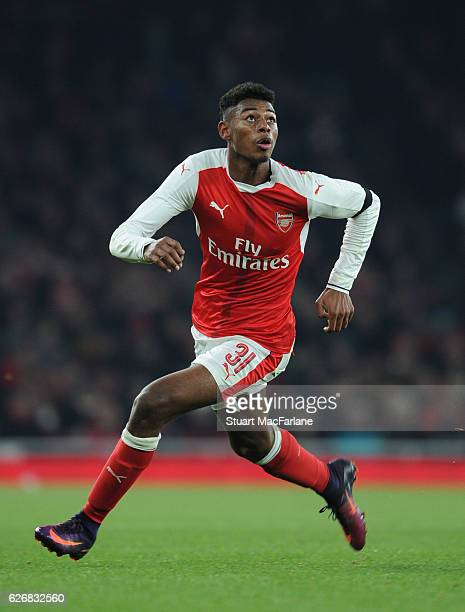Jeff ReineAdelaide of Arsenal during the EFL Quarter Final Cup match between Arsenal and Southampton at Emirates Stadium on November 30 2016 in...