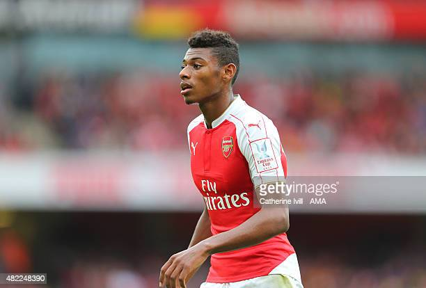 Jeff ReineAdelaide of Arsenal during the Emirates Cup match between Arsenal and VfL Wolfsburg at Emirates Stadium on July 26 2015 in London England