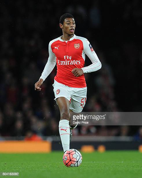 Jeff ReineAdelaide of Arsenal during the FA Cup 3rd Round match between Arsenal and Sunderland at Emirates Stadium on January 9 2016 in London England