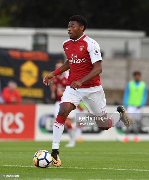 Jeff ReineAdelaide of Arsenal during the match between Boreham Wood and Arsenal XI at Meadow Park on July 27 2017 in Borehamwood England