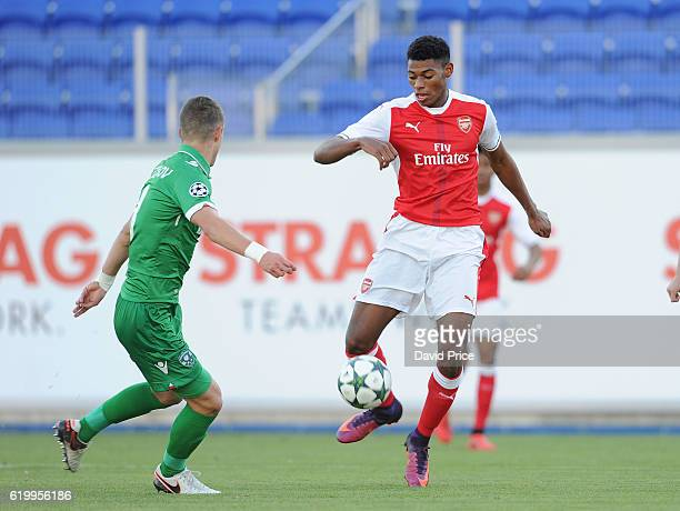 Jeff ReineAdelaide of Arsenal during the match between PFC Ludogorets Ragrad and Arsenal in the UEFA Youth League at Georgi Asparuhov Stadium on...