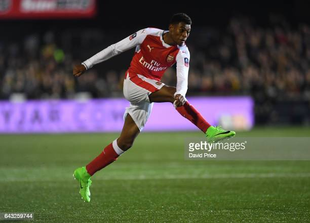 Jeff ReineAdelaide of Arsenal during the match between Sutton United and Arsenal on February 20 2017 in Sutton Greater London