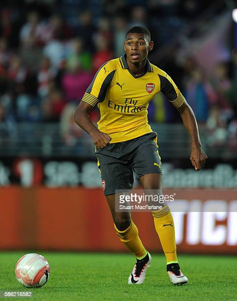 Jeff ReineAdelaide of Arsenal during the pre season friendly between Viking FK and Arsenal at Viking Stadion on August 5 2016 in Stavanger Norway