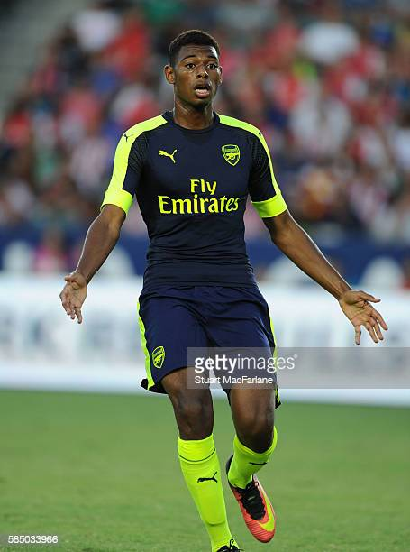 Jeff ReineAdelaide of Arsenal during the pre season friendly match between Arsenal and CD Guadalajara at StubHub Center on July 31 2016 in Carson...