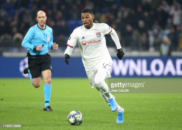 Jeff Reine-Adelaide of Lyon during the UEFA Champions League group G match between Olympique Lyonnais and RB Leipzig at Groupama Stadium on December...