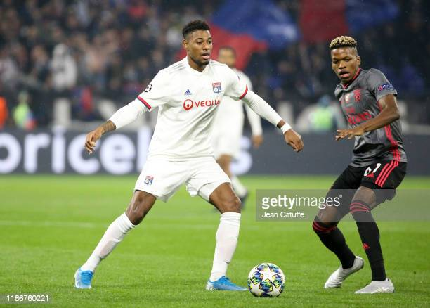 Jeff Reine-Adelaide of Lyon, Florentino Luis of Benfica during the UEFA Champions League group G match between Olympique Lyonnais and SL Benfica at...