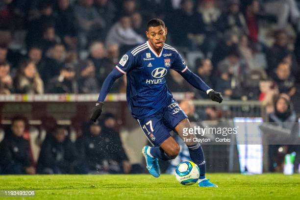 December 6: Jeff Reine-Adelaide of Lyon in action during the Nimes V Lyon, French Ligue 1, regular season match at Stade des Costières on December...