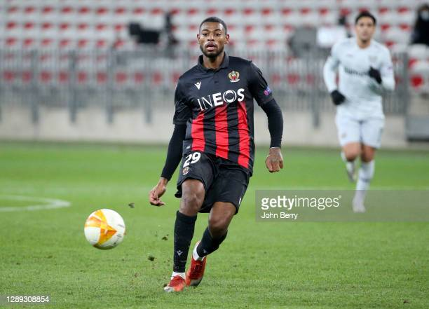 Jeff Reine-Adelaide of Nice during the UEFA Europa League Group C stage match between OGC Nice and Bayer 04 Leverkusen at Allianz Riviera stadium on...
