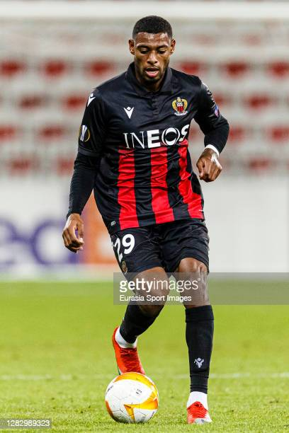 Jeff Reine-Adelaide of OGC Nice in action during the UEFA Europa League Group C stage match between OGC Nice and Hapoel Be'er Sheva at Allianz...