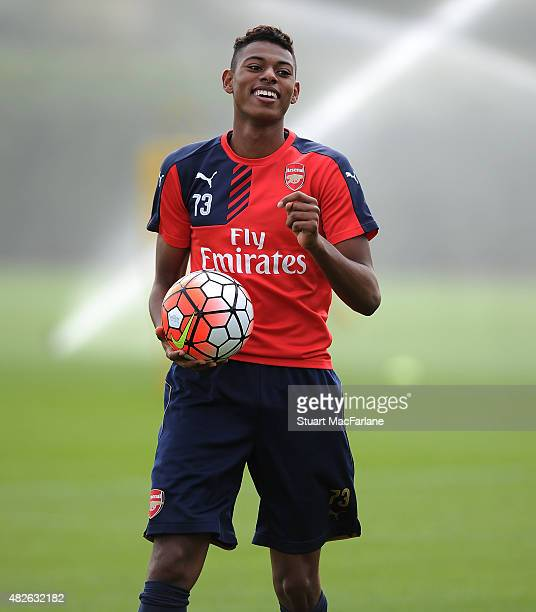 Jeff ReiniAdelaide of Arsenal during a training session at London Colney on August 1 2015 in St Albans England