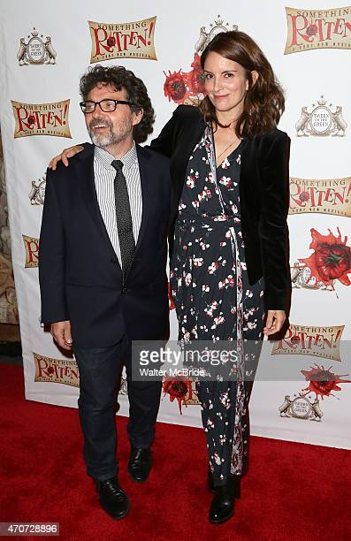 Jeff Richmand and Tina Fey attends the Broadway Opening Night Performance of 'Something Rotten' at the St James Theatre on April 22 2015 in New York...