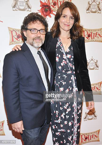 Jeff Richmond and Tina Fey attend Something Rotten Broadway Opening Night at St James Theatre on April 22 2015 in New York City