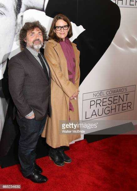 Jeff Richmond and Tina Fey attend the Broadway Opening Night Performance of 'Present Laughter' at St James Theatreon April 5 2017 in New York City