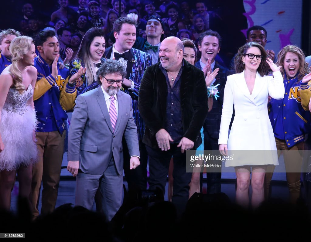 Jeff Richmond Casey Nicholaw Tina Fey With Cast During The Broadway Opening Night Performance