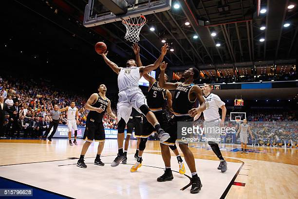 Jeff Roberson of the Vanderbilt Commodores shoots the ball in the first half against the Wichita State Shockers during the first round of the 2016...