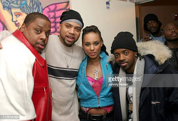Jeff Robinson of MBK Kerry Brothers Alicia Keys and Jermaine Dupri of So So Def
