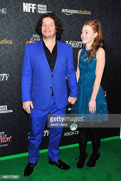 Jeff Ross and Kate Blanch arrive at Variety's 4th Annual Power of Comedy at the Avalon on November 16 2013 in Hollywood California