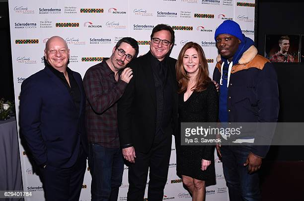 Jeff Ross John Oliver Bob Saget Dana Delany and Michael Che attend Scleroderma Research Foundation's Cool Comedy Hot Cuisine at Caroline's On...