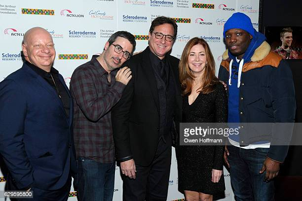 Jeff Ross John Oliver Bob Saget Dana Delany and Michael Che attend Scleroderma Research Foundation's Cool Comedy Hot Cuisine at Carolines on December...