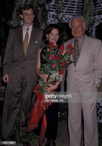 "Jeff Sagansky, Joanne Whalley-Kilmer and Robert Halmi Jr. Attend the press conference for ""Scarlett"" on November 8, 1993 at the Bel Air Hotel in Bel..."