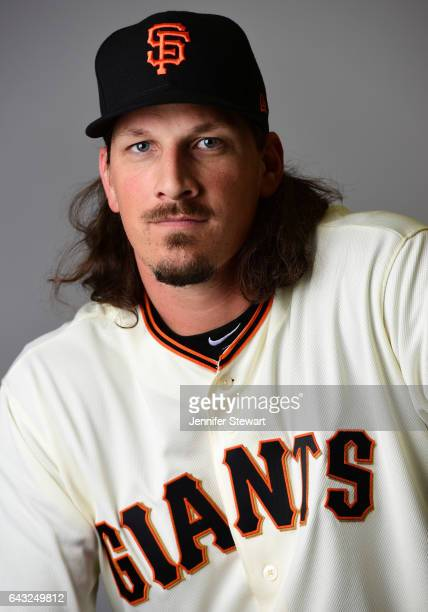 Jeff Samardzija of the San Francisco Giants poses for a portait during a MLB photo day at Scottsdale Stadium on February 20 2017 in Scottsdale Arizona