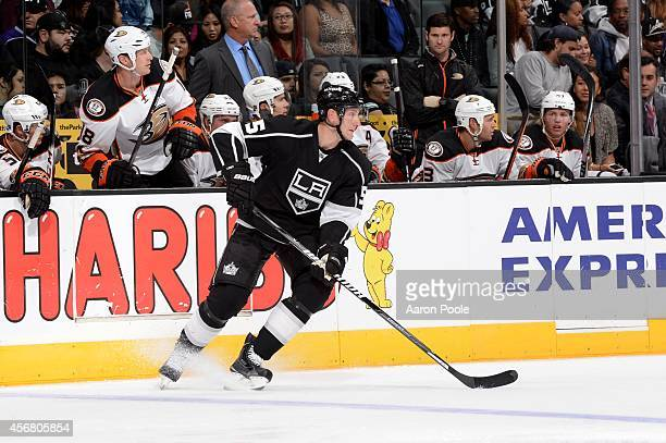 Jeff Schultz of the Los Angeles Kings during a game against the Anaheim Ducks at STAPLES Center on September 25 2014 in Los Angeles California