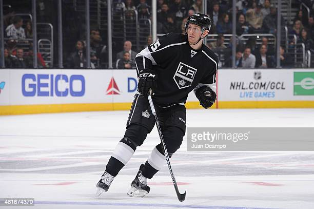 Jeff Schultz of the Los Angeles Kings skates on ice during a game against the New Jersey Devils at STAPLES Center on January 14 2015 in Los Angeles...