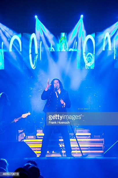 Jeff Scott Soto of the TransSiberian Orchestra performs live during a concert at the Tempodrom on January 25 2014 in Berlin Germany