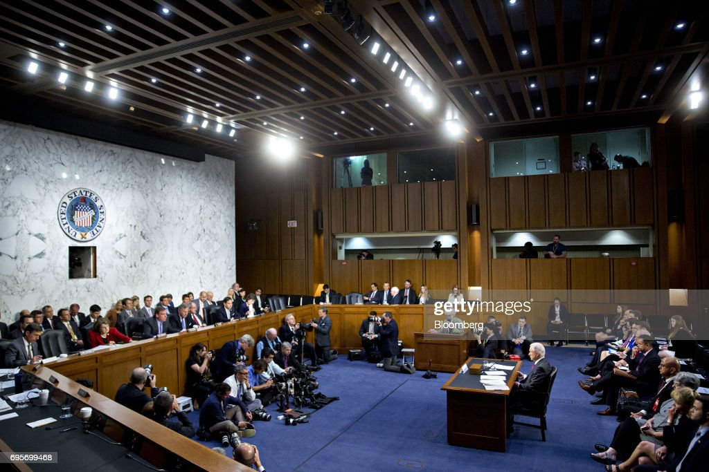 Attorney General Jeff Sessions Testifies Before Senate Intelligence Committee : News Photo