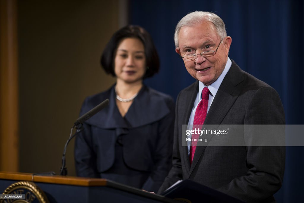 Attorney General Jeff Sessions Holds News Conference On Efforts To Reduce Violent Crime