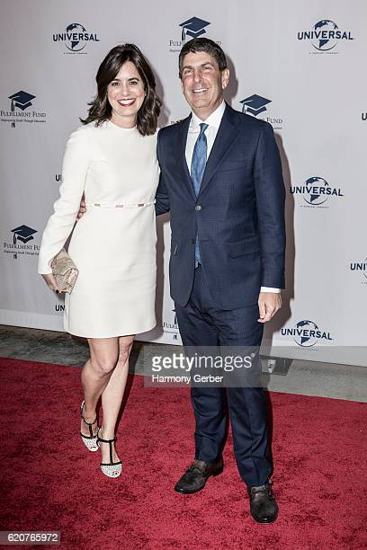 Jeff Shell and Laura Shell arrive at the 22nd Fulfillment Fund Stars Benefit Gala at The Globe Theatre at Universal Studios on November 2 2016 in...