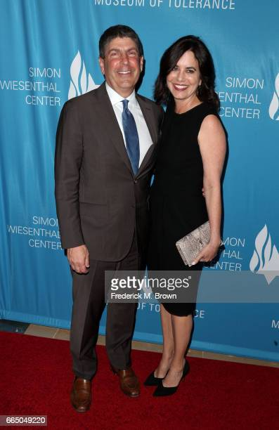 Jeff Shell and Laura Shell attend The Simon Wiesenthal Center's 2017 National Tribute Dinner at The Beverly Hilton Hotel on April 5 2017 in Beverly...